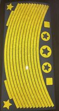 Yellow reflective 3m Wheel Stickers Mountain bike Rim Reflex UK SELLER Bmx Reflx