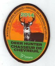 2014 ONTARIO MNR DEER HUNTER PATCH-MICHIGAN DNR DEER-BEAR-MOOSE-ELK-CREST-BADGE