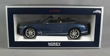 NOREV 182785 [1:18] BENTLEY CONTINENTAL GTC 2019 - BLUE CRYSTAL/BLAU - NEUWARE!