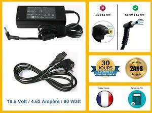 Câble / Chargeur alimentation pc portable compatible Hp PAVILION, ENVY, COMPAQ