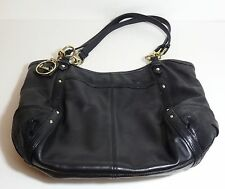 $260 COACH Alexandra Black Leather Exotic Embossed Large Tote Purse Bag 20812