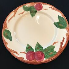 """Set of 3 Hand Painted Franciscan Apple Dinner Plates - 9 1/2"""" Made in USA"""