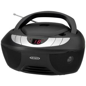 Portable Stereo CD Player with AM/FM Radio Boombox LED Display Aux Input