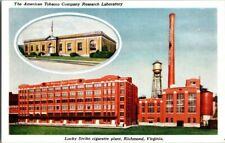 1930'S. LUCKY STRIKE CIGARETTE PLANT. RICHMOND, VA. POSTCARD ZT4