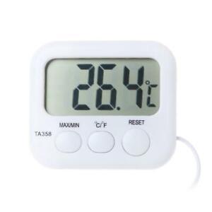 LCD Digital Thermometer Refrigerator Aquarium Water Temperature Gauge With Probe