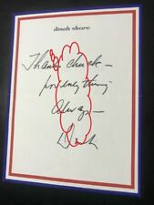 Dinah Shore Singer Actress Memo To Chuck Autograped Dinah On Her Logo Memo Paper