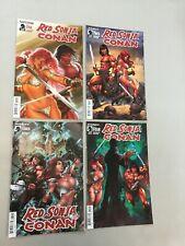 Red Sonja Conan 1-4 Complete Set 1 2 3 4 Dark Horse Comics 2015
