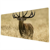 90x40cm Extra Large XXL Mouse Mat Pad Full Desk Brown Stag Yellow Grass