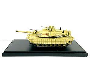 1:72 Diecast Tank USA M1A1 Tusk MBT Desert Sand US Army American w/ Display Case