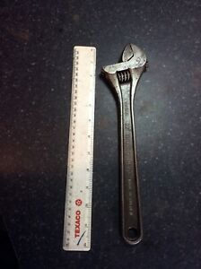 """Bahco 0673 12""""/300 Mm Adjustable Spanner In Good Condition &working Order"""