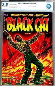 BLACK CAT #44- CBCS 3.5-POWELL ART 1953 HARVEY-GREAT HORROR COMIC