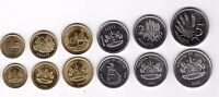 LESOTHO – 6 DIF UNC COINS SET: 0.10 - 5 LOTI 1998 YEAR
