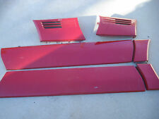 MERCEDES SL 129 90-95 SL500 SL600 SL320 FENDER DOOR MOULDING SET RED