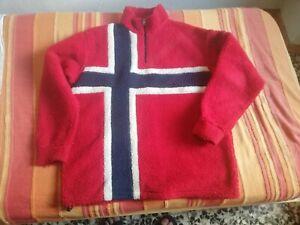 pile maglione Napapijiri bandiera norvegese taglia M vintage