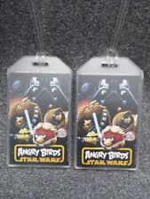 ANGRY BIRDS + STAR WARS LUGGAGE TAGS - SET OF 2 - DARTH VADER - NAME BAG ID