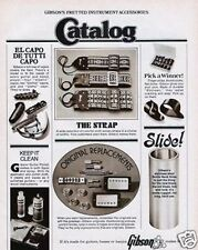 1974 Gibson Fretted Instrument Accessories Catalog Ad