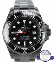Men's Rolex Sea-Dweller DeepSea Black PVD Coated 116660 44mm Dive Date Watch