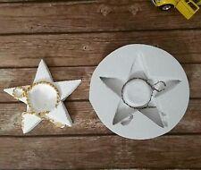 Moule étoile noeud support bougie en Silicone pour Pâte Polymère Fimo Savon