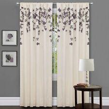 Lush Decor Flower Drop Curtain Panel Purple Window Treatment Panel