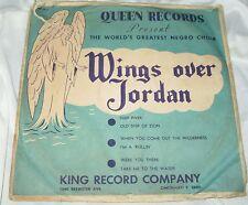 Rare Black Gospel 3 Record 78 Set: Wings over Jordan - Queen Records I'm Rollin