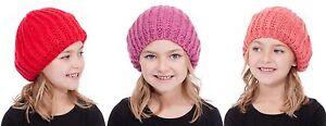 RJM Girls Soft Knit Metallic Thread Beanie Beret Hat