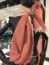 BLOOMINGDALE'S WOMENS WOOL ACRYLIC BLEND WRAP SCARF STOLE NWT