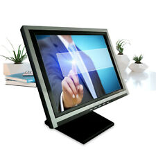 """15"""" Inch 4-Wire Touchscreen LCD Touch Screen Monitor USB VGA / POS /  FAST SHIP!"""