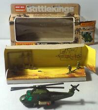 DTE 1976 LESNEY MATCHBOX BATTLEKINGS BK-118 KAMAN SEASPRITE MILITARY HELICOPTER