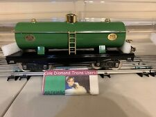 MTH 10-1051 Green Oil Tank Car #0215 With Box Insert