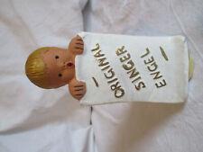 SINGER ENGEL Keramik Keramikaufsteller Werbeaufsteller Schild Antik
