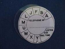 Dial Label & Flat Acetate Disc for Vintage Bakelite & Wooden Telephones . NEW