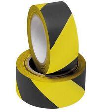 10m nero e giallo PVC Rotolo Autoadesive a rischio la sicurezza cautela avvertimento nastro