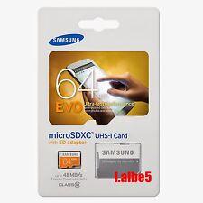 Samsung 64gb Micro SD Card SDXC EVO 48mb/s Uhs-i Class 10 TF Memory Card