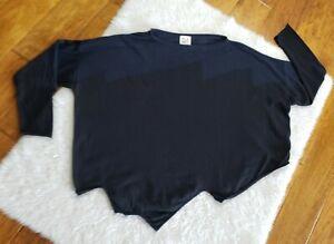 PLANET Laura Grossman Oversized Sweater 3/4 Sleeve Crop Pima Cotton Modal OSFA