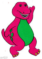 "4.5"" BARNEY THE DINOSAUR CHARACTER NOVELTY PREPASTED WALL BORDER CUT OUT"