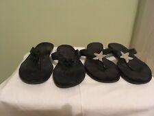 Lot of -2-Black Aerosoles  Flip Flops Size 9