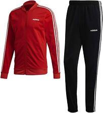 Tuta Uomo Adidas 3-Stripes Regular Classic Rossa Nero Polsini Affusolata Tasche
