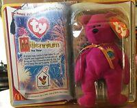 bb779a7fbb3 Millennium the Bear Ty Teenie Beanie Babies New in Pkg McDonalds Premium  1999