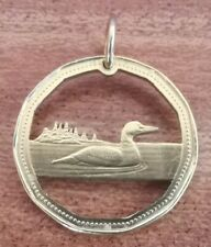 Handcrafted Canadian Dollar Pendant - Canada Goose Cut Out