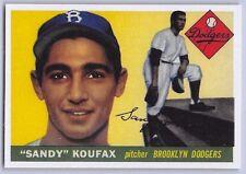 """1955  SANDY KOUFAX - Topps """"ROOKIE REPRINT """" Baseball Card # 123 - L.A. DODGERS"""