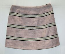 ASOS Brand Pink Woven Wool Short A Line Skirt Size 12 BNWT #TO75
