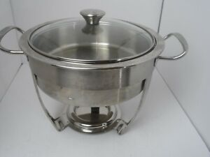 Tramontina 3 Quart Chafing Dish Stainless Steel for Buffet w/Water Pan and Lid