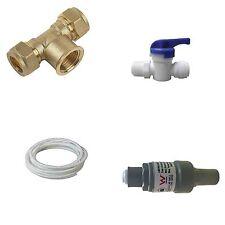 Fridge Icemaker Water Filter Connection Kit Isolation & Pressure Valve & Hose