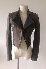 Alice & Olivia cropped leather jacket size 6