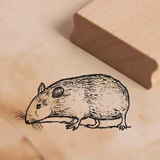 Stempel Holzstempel - Hamster Tier - Motivstempel Abdruck 48x24mm ❤️