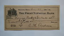 $2.50 1931 Hibbing Minnesota MN Cancelled Check! First National Bank