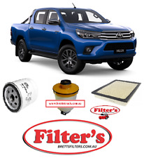 Filter Service Kit FOR Toyota Hilux GUN125R 2GDFTV 2.4L CRD TURBO 2016- GUN125