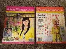 Where Women Create Magazine Lot of 2 2011 & 2013. Like New!