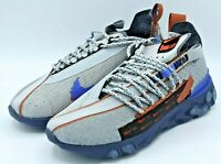 Nike React WR ISPA Wolf Grey Running Shoes CT2692-001 Mens Size 6.5 Womens 8 NEW