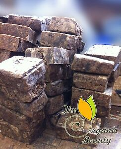 8 oz - 1/2 lb Pure Raw African Black Soap from Ghana all Natural Handmade